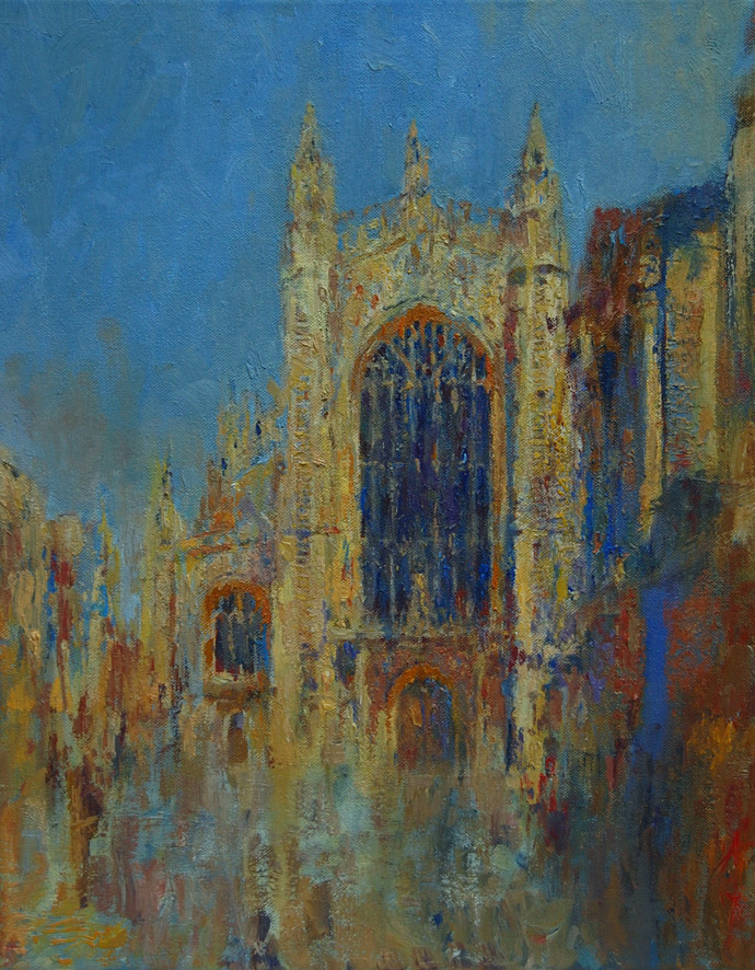 bath abbey oil painting